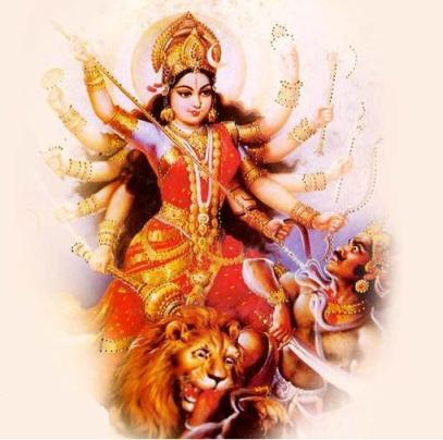 Mahishasura Mardini. Durga triumphant over the Darkness